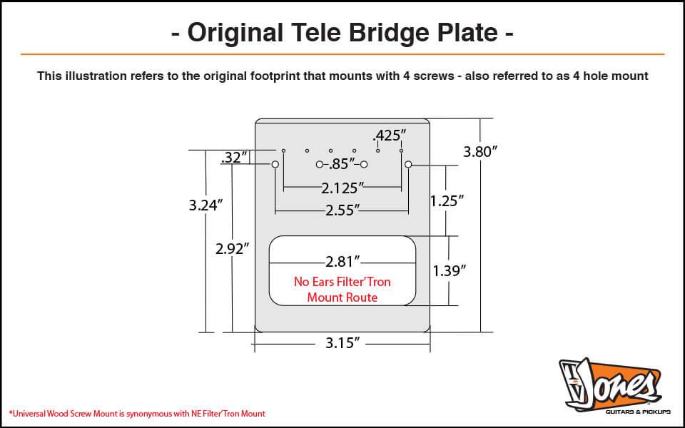 Original Tele Plate Dimensions