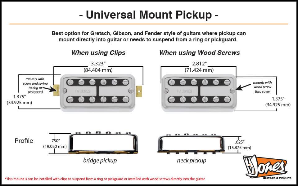 Universal Mount Dimensions TV Jones