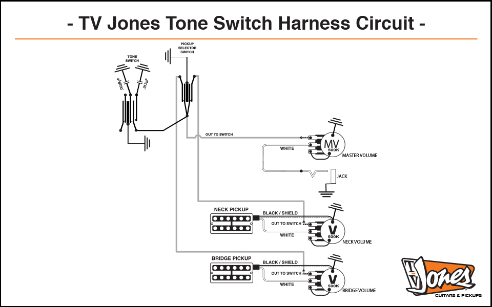 Tone Switch Wiring Harness - TV Jones