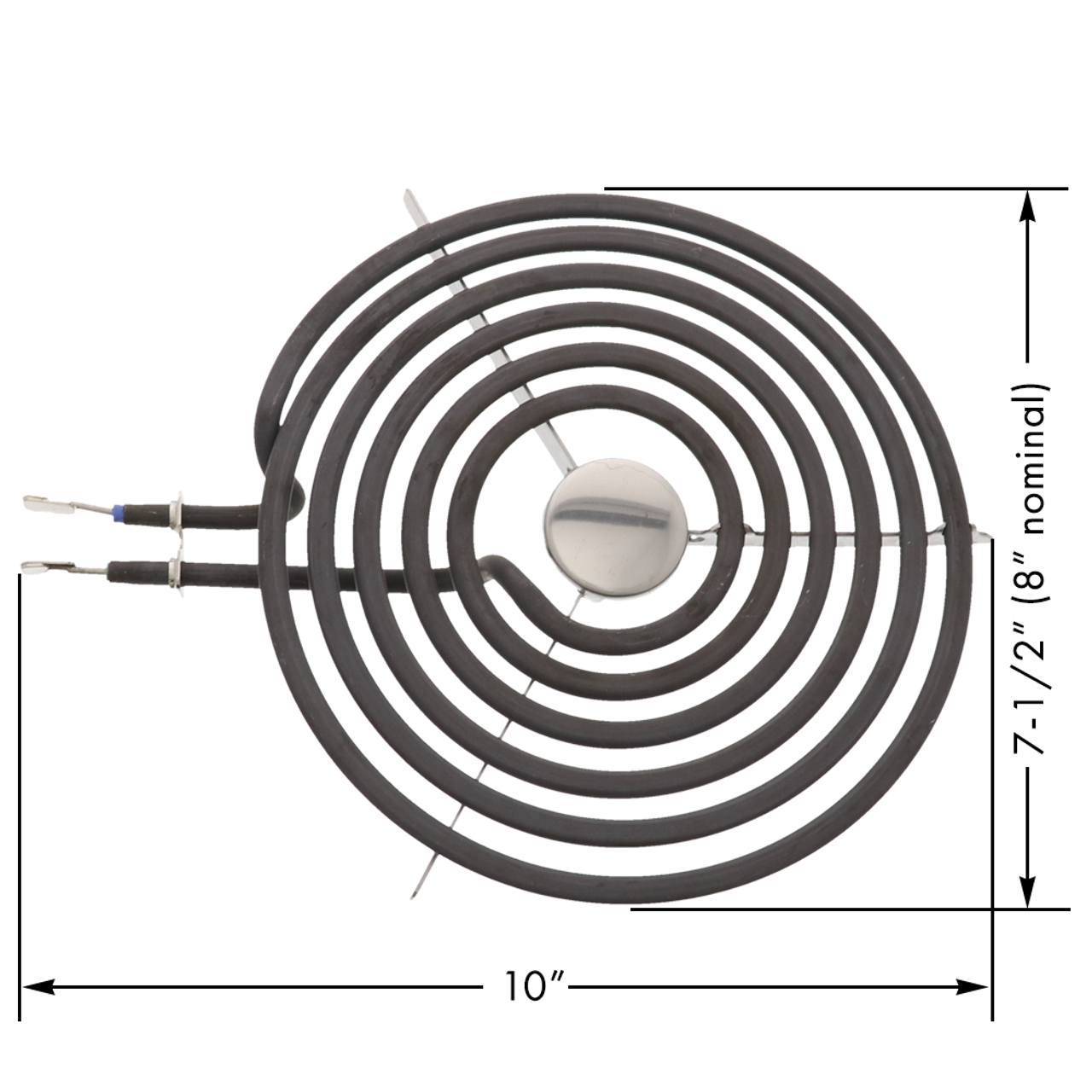 Compatible with General Electric WB30M2 Heating Element for Range Stove /& Cooktop Replacement for General Electric JP328CK2CC 8 inch 6 Turns Surface Burner Element