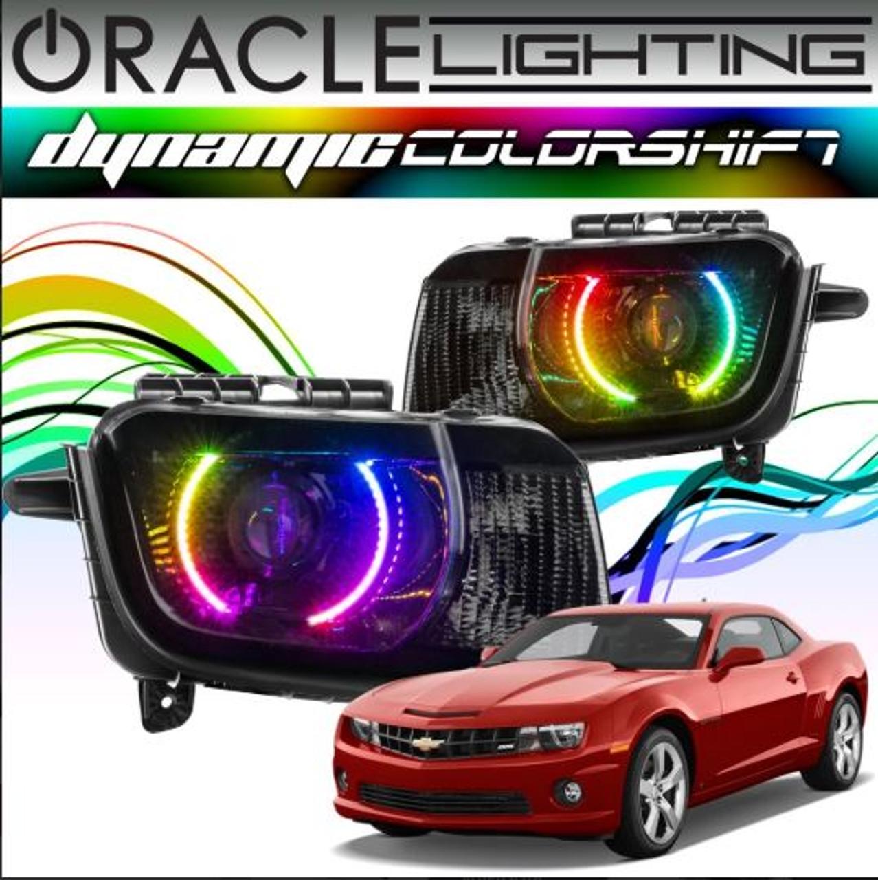 2010 2013 Chevrolet Camaro Oracle Dynamic Colorshift Headlight Halo Kit