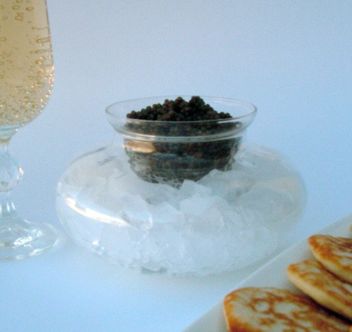 Glass Caviar Serving Dish