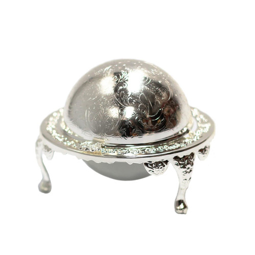 Silver Plated Roll-Top Caviar Server