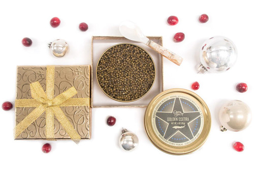 Golden Gift Box - 4 oz Imported Caviar