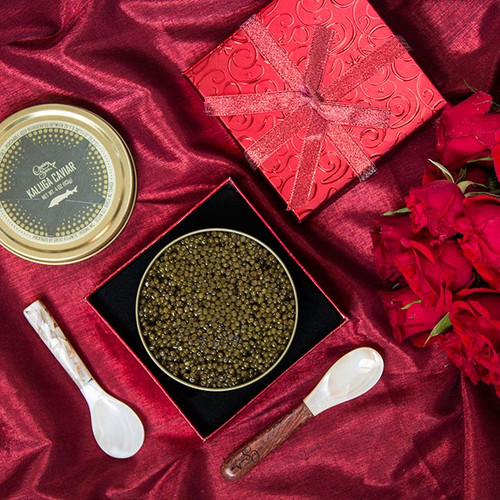 Red Gift Box - 125g Black or Red Caviar
