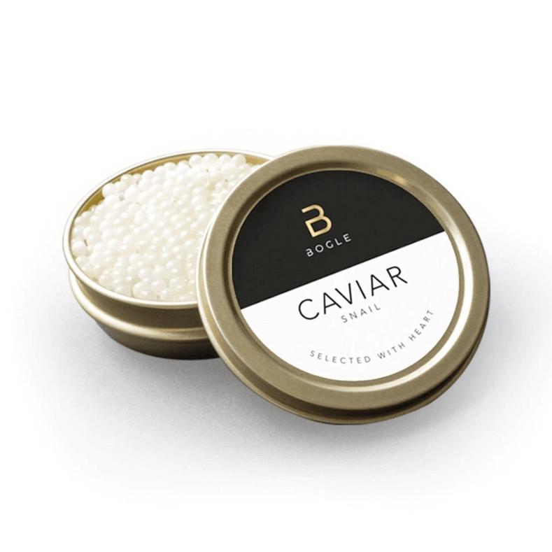 Escargot Caviar on Ahi Tuna Cube with Vanilla Powder, Avocado Mousse, Thai Chili, and Lime Gastrique