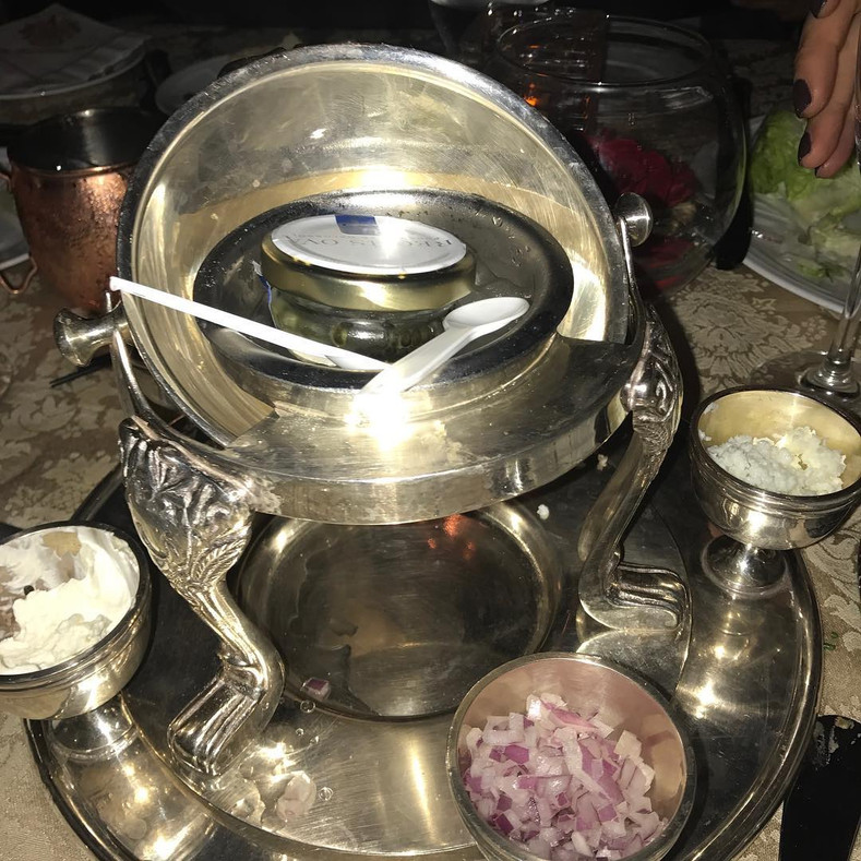 Mar-a-Lago serves caviar on plastic spoons