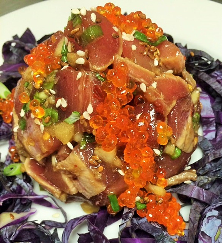 Caviar Recipes - Hawaiian Poke with Smoked Trout Caviar