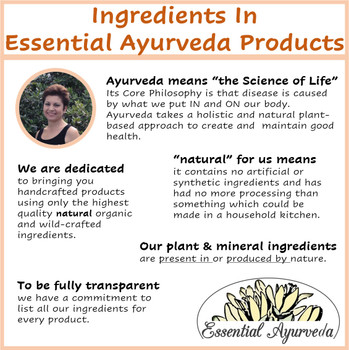 Ingredients In Essential Ayurveda Products