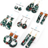 Acrylic and Wood Dangle Earrings - Ozone Design (Juniper Colorway)