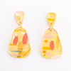 Abstract Painted Acrylic Dangle Earrings - Dewdrop (Lemonade Colorway)
