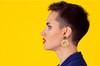 Acrylic and Wood Dangle Earrings - Ozone Design (Lemonade Colorway)