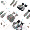 Sparkle Acrylic Dangle Earrings - Slim Teardrop Design