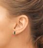 Sparkle Acrylic Stud Earrings - Bar Design