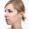 Wood & Leather Dangle Earrings - Ozone Layers (Pale Blue / Alder)