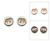 Cameo Post Earrings - Elephant