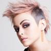 Long Splatter Painted Dangle Earrings - Rose Gold