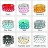 Leather Bracelet - Geometric Diamond Pattern