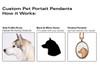Custom Cameo Pendant - Pet Portrait (Dog, Cat & Other Animals)
