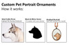 Custom Pet Ornament - Pet Portrait (Dog, Cat & Other Animals)