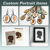 Custom Children's Portrait Ornament - Choose Your Color