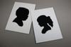 Paper Cutout Portrait - Children's Silhouette (Black & White)