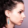 Long Splatter Painted Dangle Earrings - Confetti