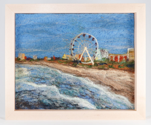 Wool Landscape Painting: The Grand Strand - Day 67 (10x12)
