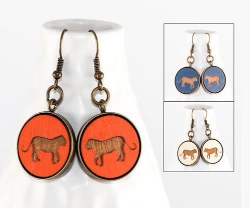 Dangle Earrings - Tiger