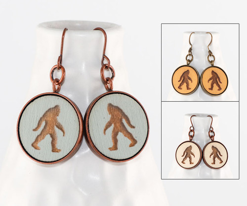 Dangle Earrings - Bigfoot