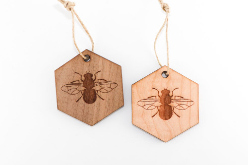Wood Christmas Ornament: Bee