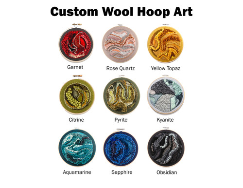 Custom Wool Color Study: Choose Your Birthstone / Color - Rug Hooking, Punching, Needle Felting