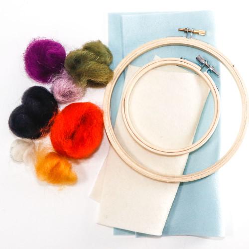 Needle Felting Kit - 2D Hoop Art