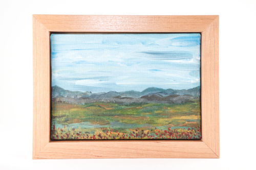 Original Landscape Painting: Slowly Springtime (6x8) Framed Acrylic on Panel