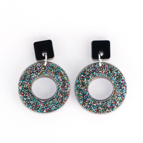 Sparkle Acrylic Dangle Earrings - Ozone Design