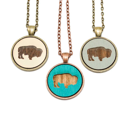 Small Cameo Pendants - Buffalo