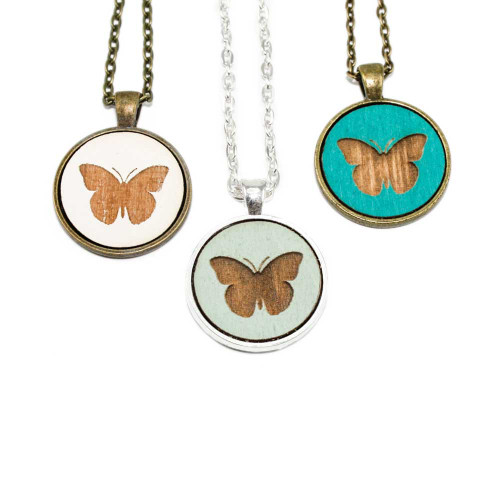Small Cameo Pendants - Butterfly