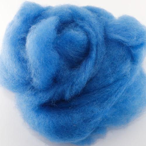 Sky Blue - Wool Roving Needle Felting Material (Per Ounce)