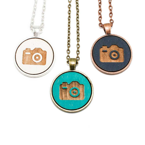 Small Cameo Pendants - Camera