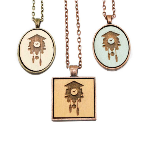 Small Cameo Pendants - Cuckoo Clock