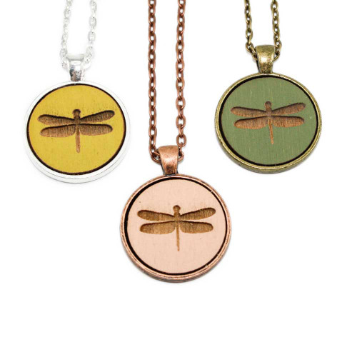 Small Cameo Pendants - Dragonfly