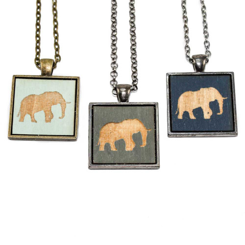 Small Cameo Pendants - Elephant