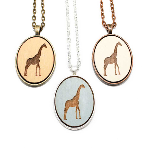 Small Cameo Pendants - Giraffe