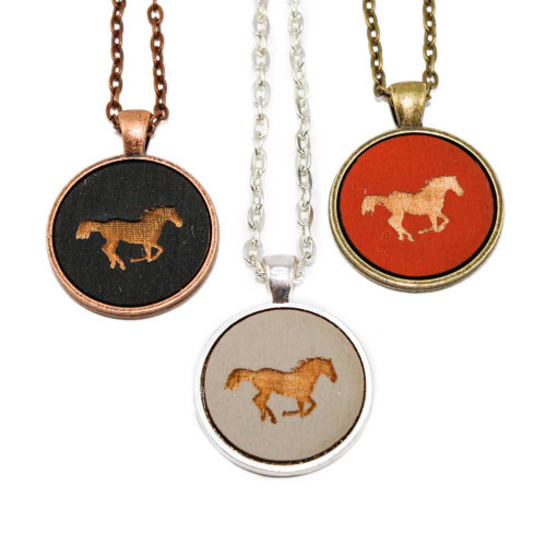 Small Cameo Pendants - Horse (Galloping)