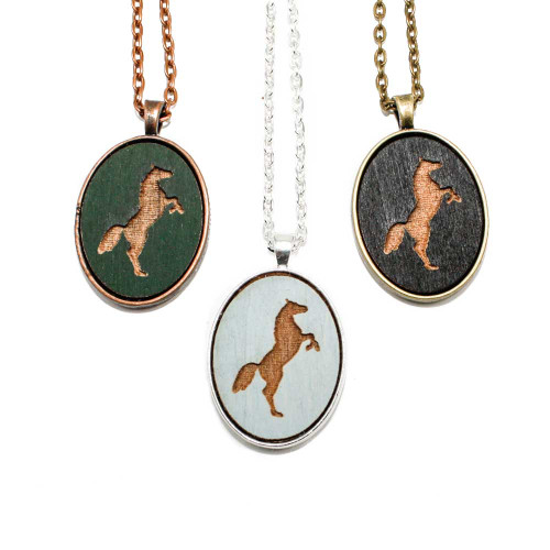 Small Cameo Pendants - Horse (Rearing)