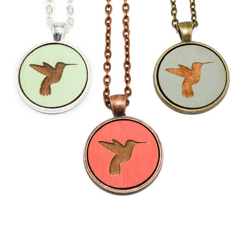Small Cameo Pendants - Hummingbird