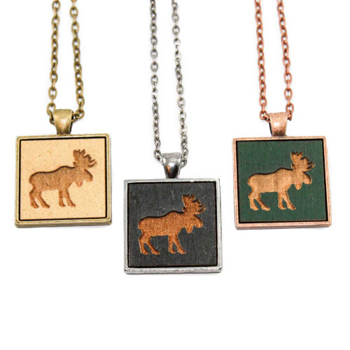 Small Cameo Pendants - Moose