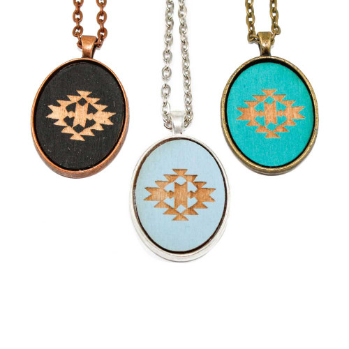 Small Cameo Pendants - Navajo Design