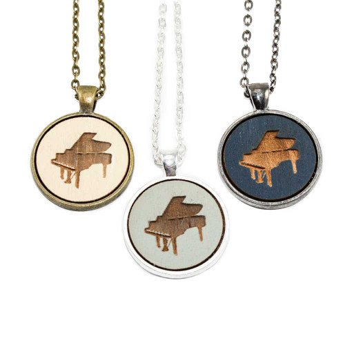 Small Cameo Pendants - Piano