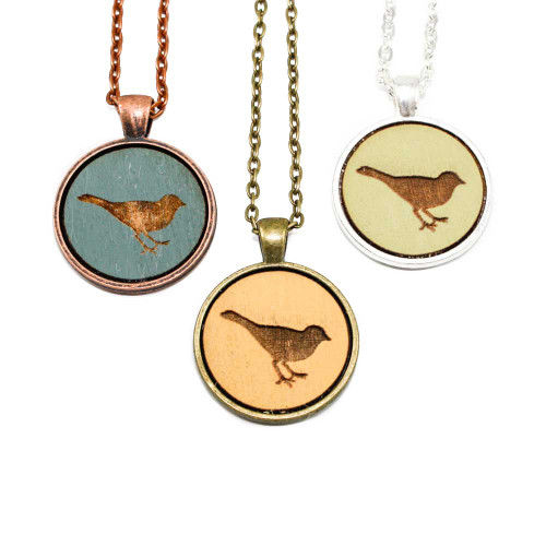 Small Cameo Pendants - Songbird